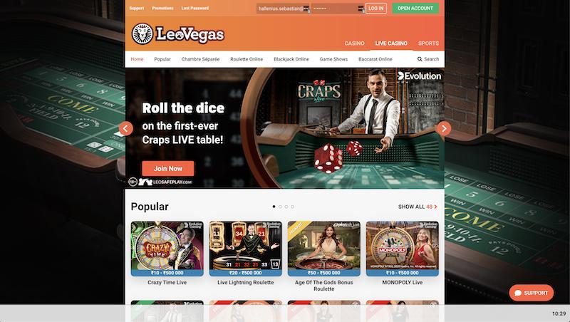 LeoVegas India Live Casino