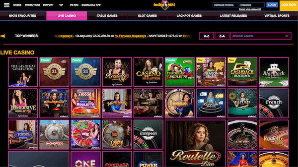 LuckyNiki India casino review
