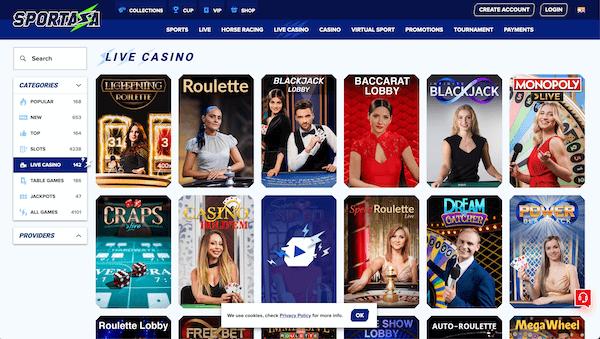 Sportaza Live Casino