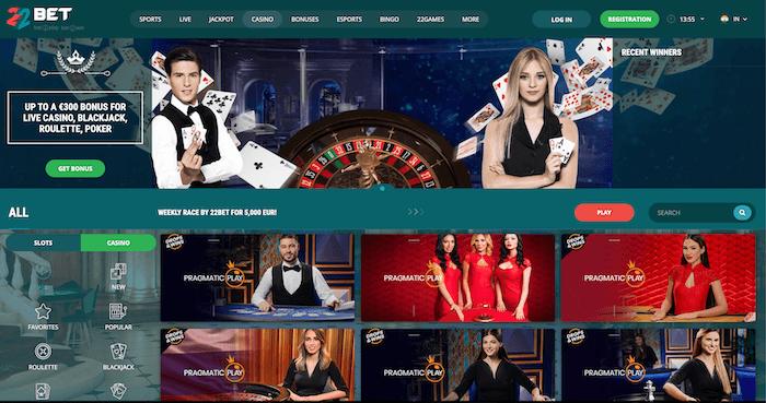 22bet casino India