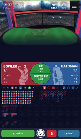 Cricket War concept by Ezugi